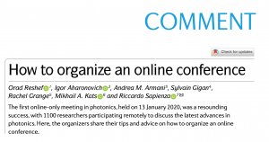 How to organize an online conference